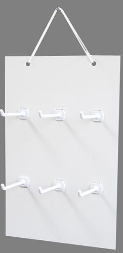 吊り下げハンガーボード 6個穴タイプ(横3×縦2)