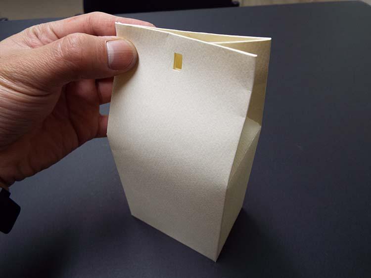 薄紙、紙袋風パッケージにチャレンジ-販促通販
